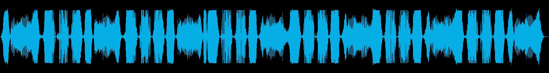 通信歪みアクティブアラームの再生済みの波形