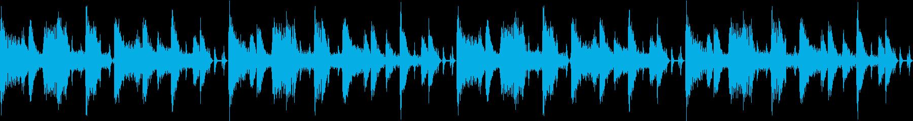 ギターとエレピの明るいシティポップ風の再生済みの波形