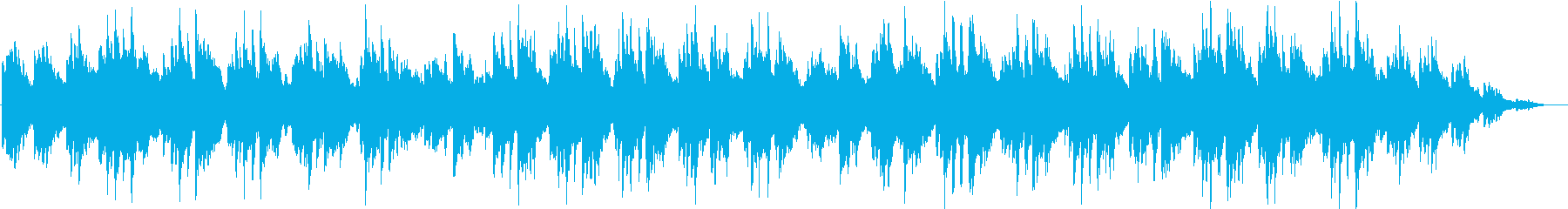 自然を感じさせるヒーリングBGMの再生済みの波形