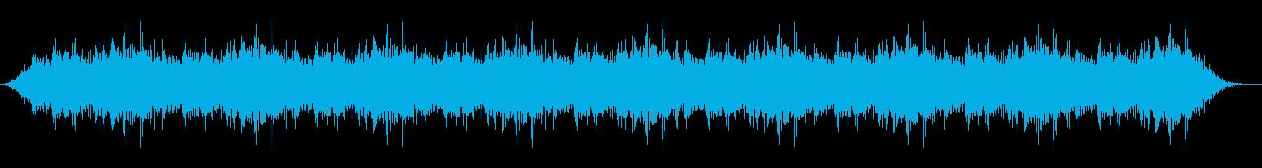 ホラーシーンでの環境音の再生済みの波形