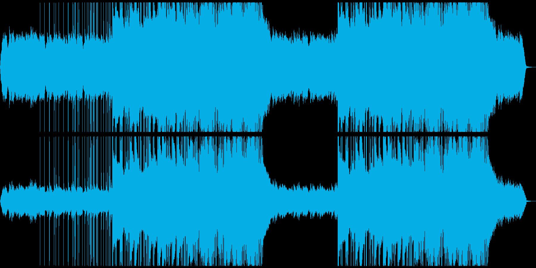 エレキギターの生演奏Hiphopですの再生済みの波形