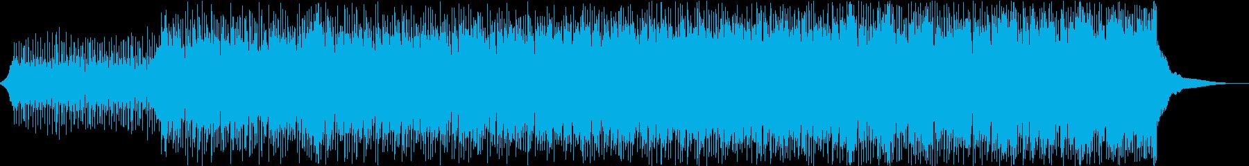 ドラマのテーマ曲のようなロックの再生済みの波形