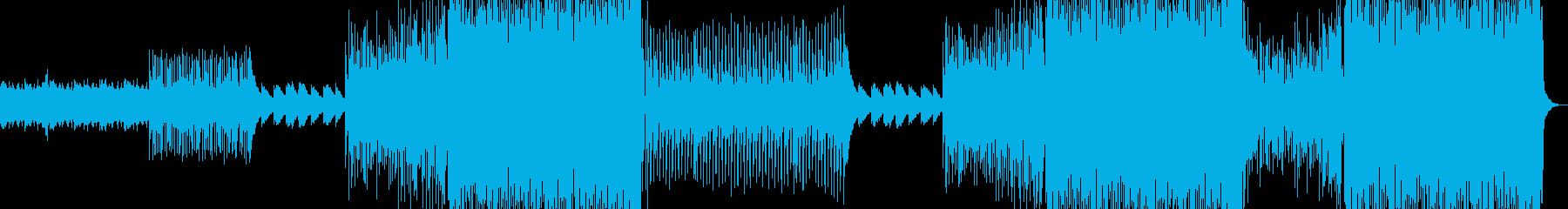 疾走感あるダークでクールなクラブ系EDMの再生済みの波形