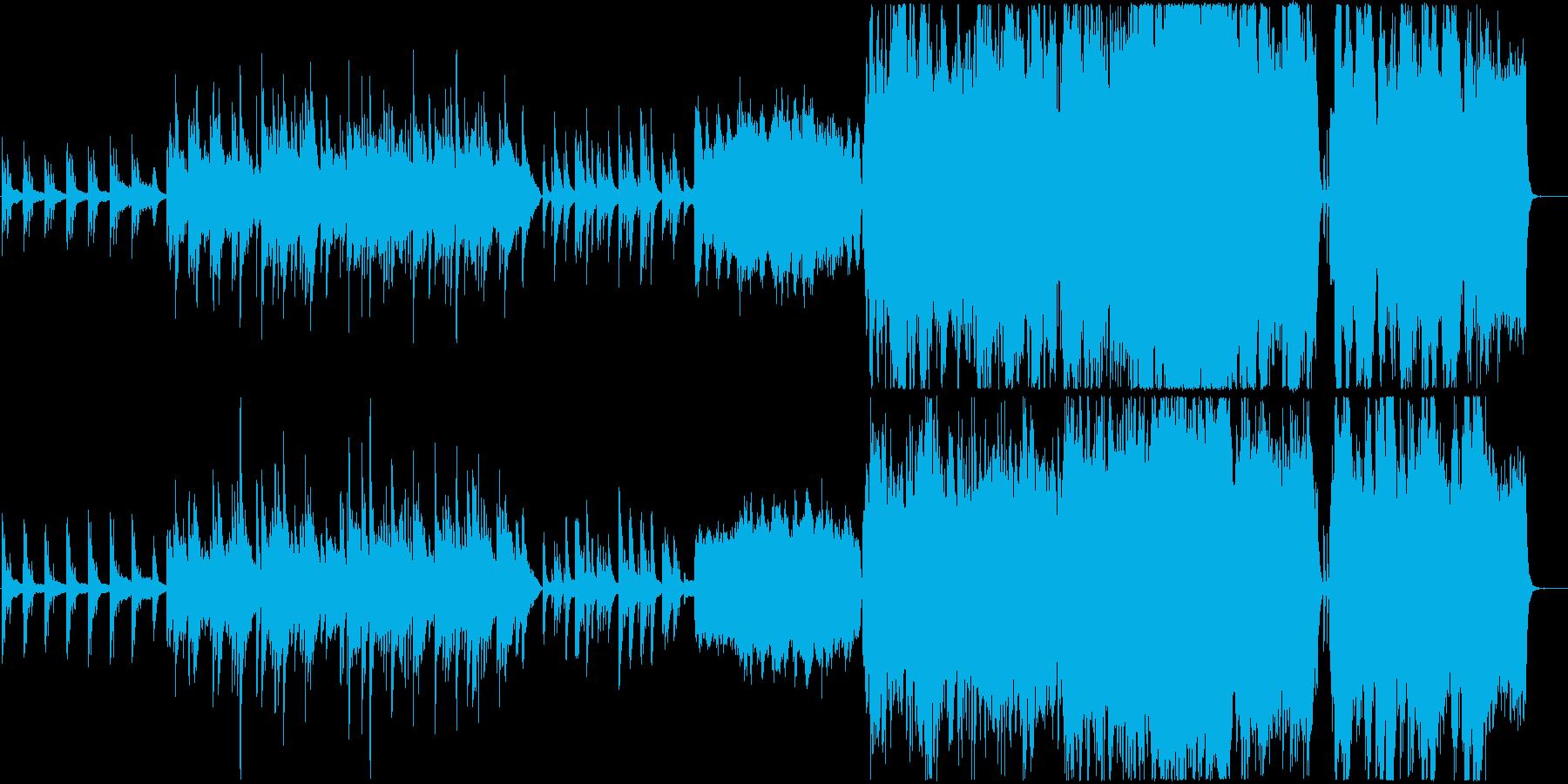 しっとりとした感動的な場面のオーケストラの再生済みの波形