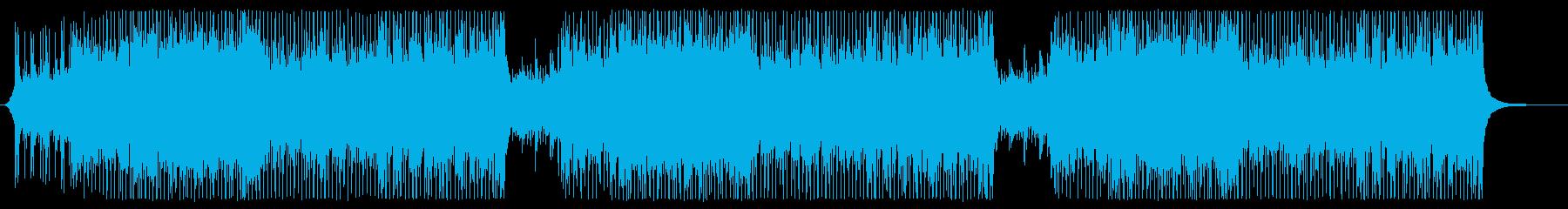 ピアノとギター主体の爽やかな映像向け曲の再生済みの波形