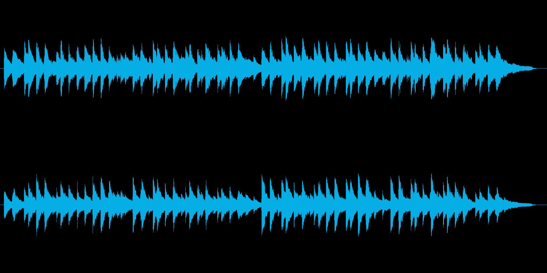蛍の光 ピアノアレンジの再生済みの波形
