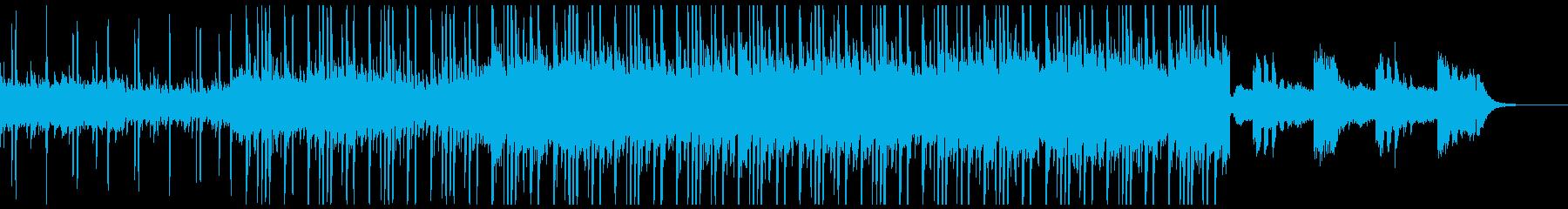 ダークの中に、少しポップな雰囲気のビートの再生済みの波形