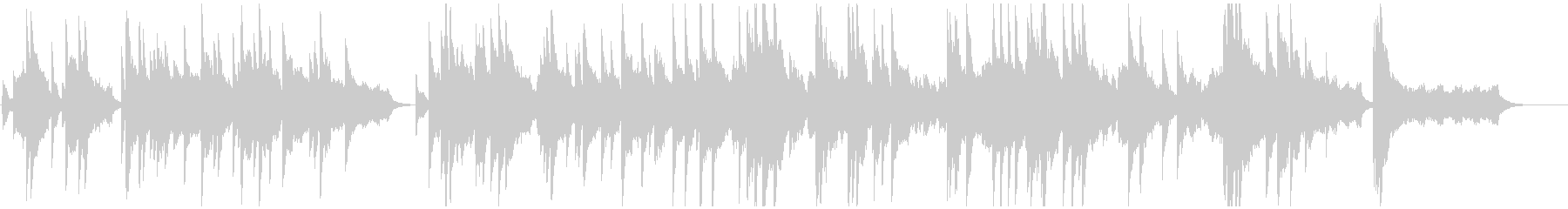 暗い曲調から明るく転調するピアノバラードの未再生の波形