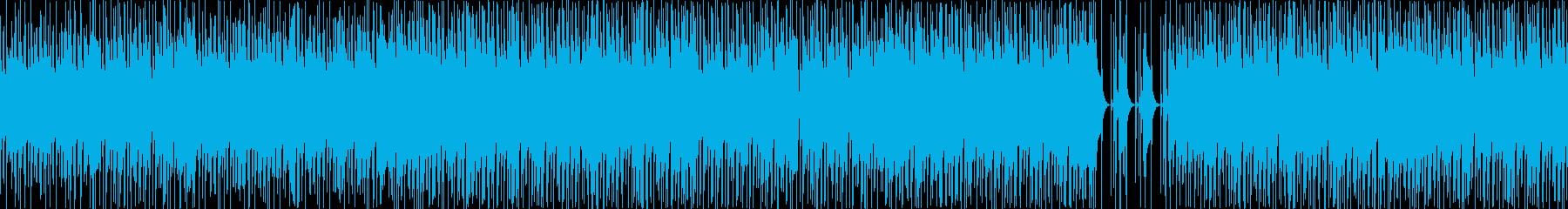 ファンキーなベースとドラムジャズの再生済みの波形