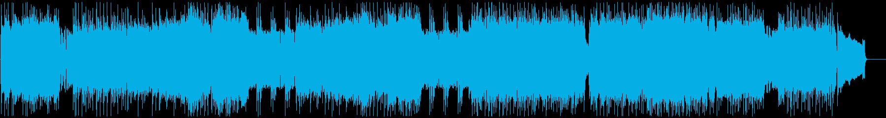 戦闘シーン向けのメタルの再生済みの波形