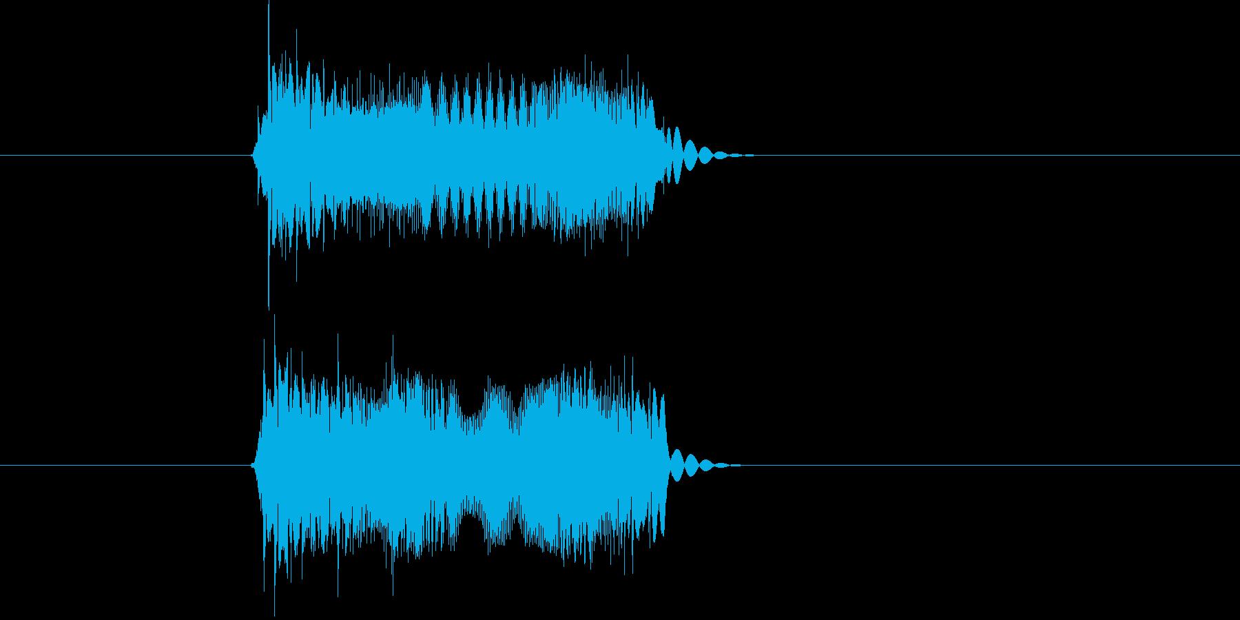 チューインチュ(敵に攻撃されるような音)の再生済みの波形