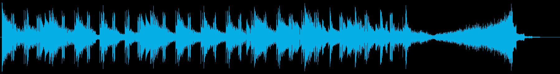 陰気でパワフルなドラムとサウンドデ...の再生済みの波形