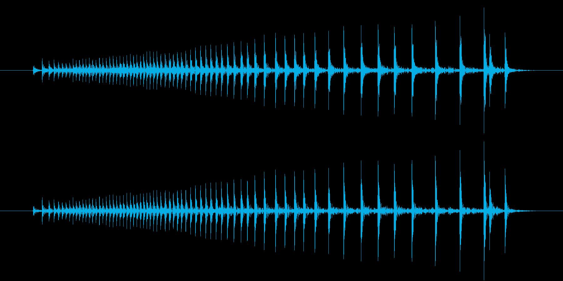【生録音】ドアがきしむ音の再生済みの波形