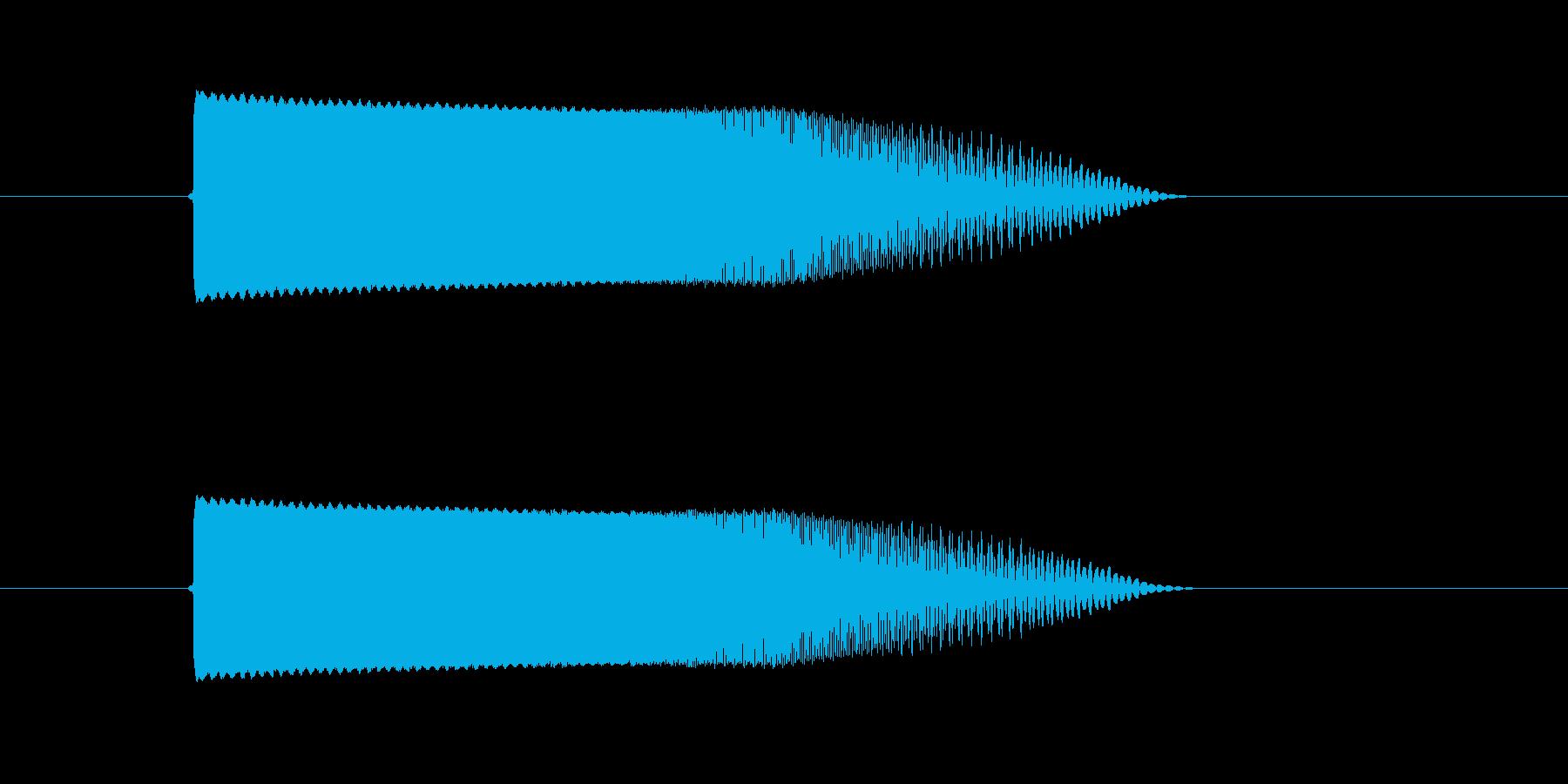 スペースビーム(消)の再生済みの波形