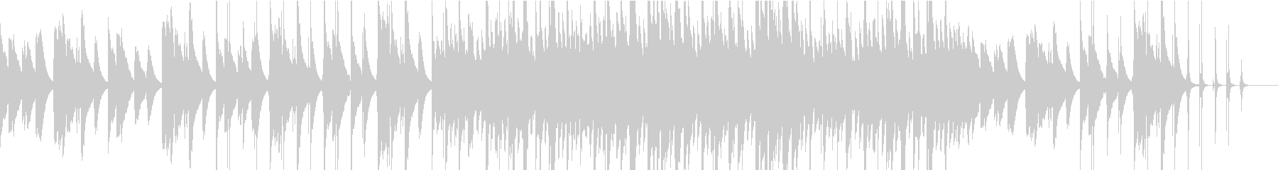 チェレスタ主体のさびしげなバラードの未再生の波形