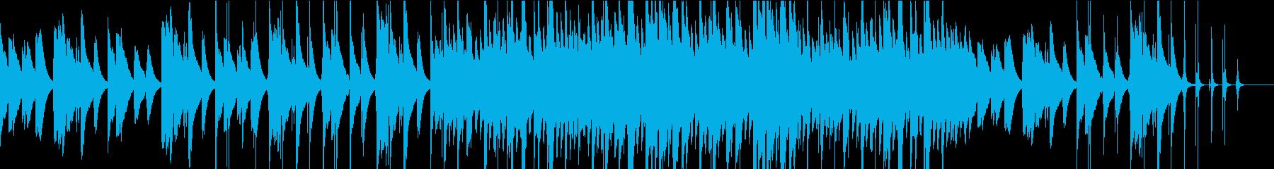 チェレスタ主体のさびしげなバラードの再生済みの波形