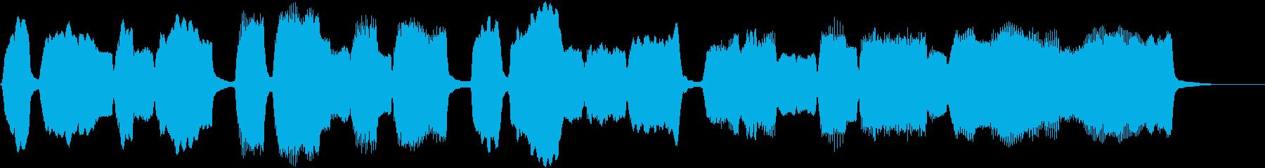 パイプオルガン独奏落ち着いた小曲バッハ風の再生済みの波形