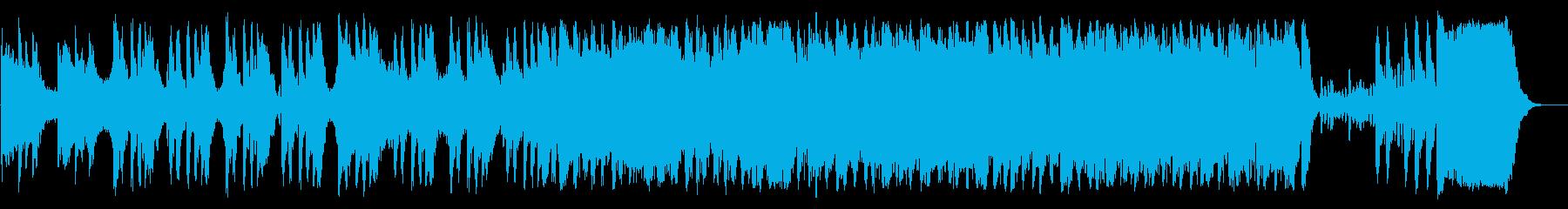 ゲームのオープニングに合うオーケストラの再生済みの波形