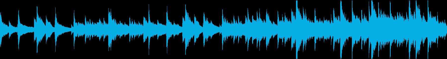 悲しいノスタルジックなソロピアノの再生済みの波形