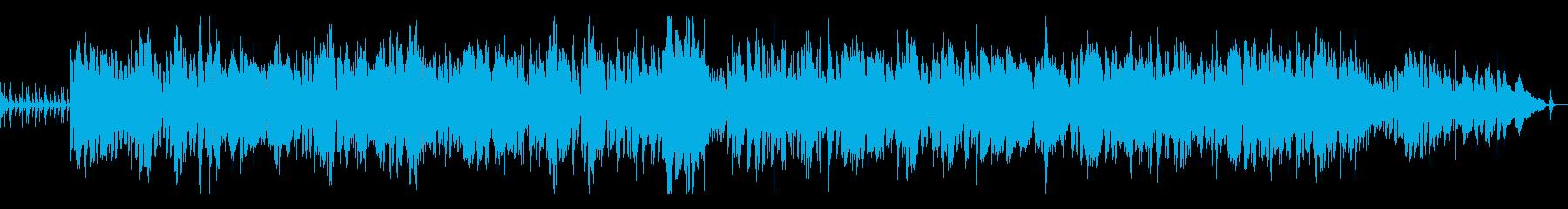 アンニュイな欧州映画風ボサノバの再生済みの波形