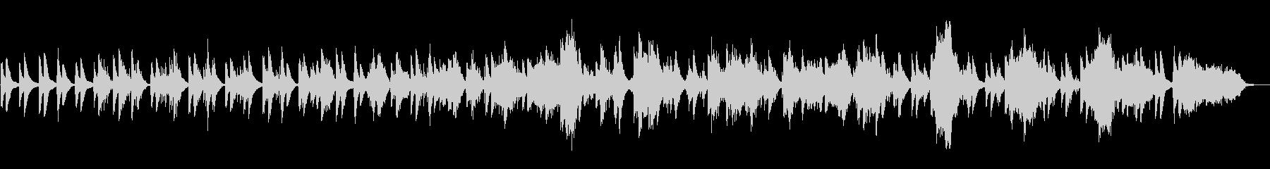 ヒーリング向けのピアノアンビエントの未再生の波形