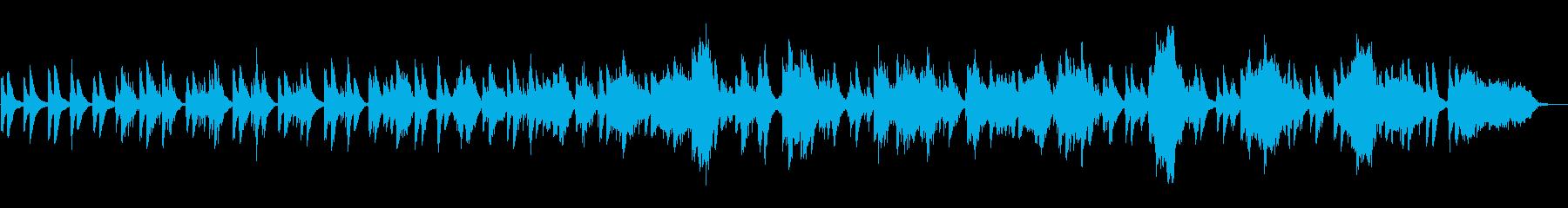 ヒーリング向けのピアノアンビエントの再生済みの波形