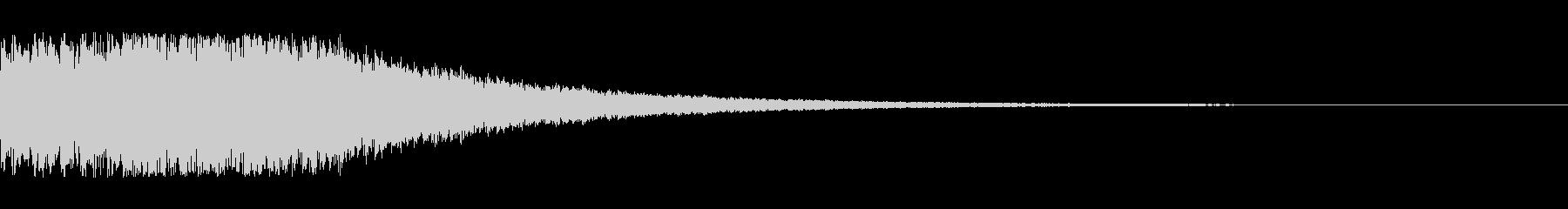 決定・メニュー・UI等電子音1の未再生の波形