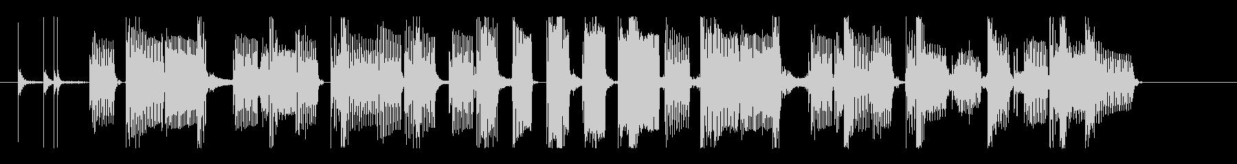 クールなベース&グルーヴィなリズムのロゴの未再生の波形