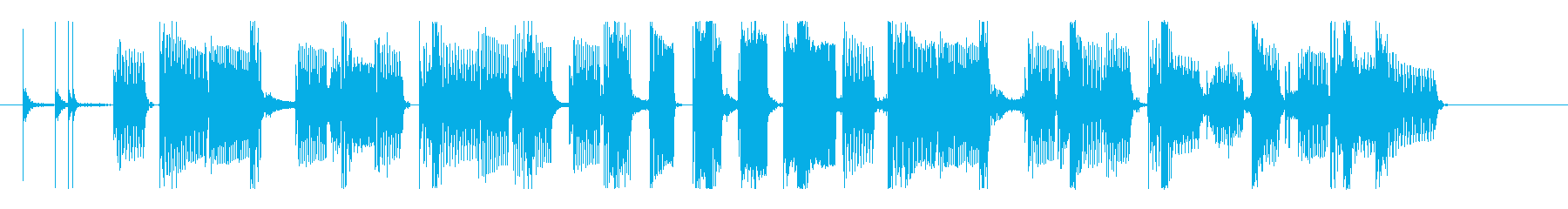 クールなベース&グルーヴィなリズムのロゴの再生済みの波形