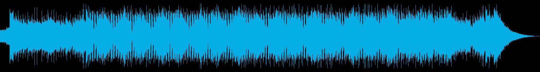 クールで洗練された疾走感あるテクノポップの再生済みの波形