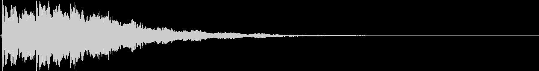 ピン:アニメや漫画で閃く時の音2の未再生の波形