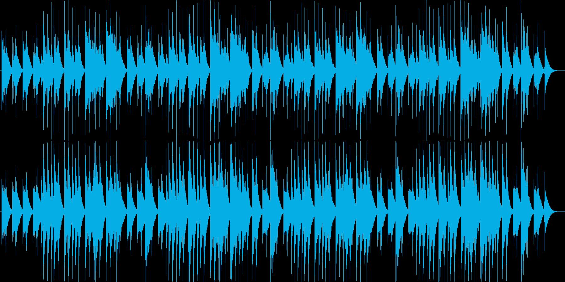 淡い恋を思わせるきれいなオルゴール曲の再生済みの波形