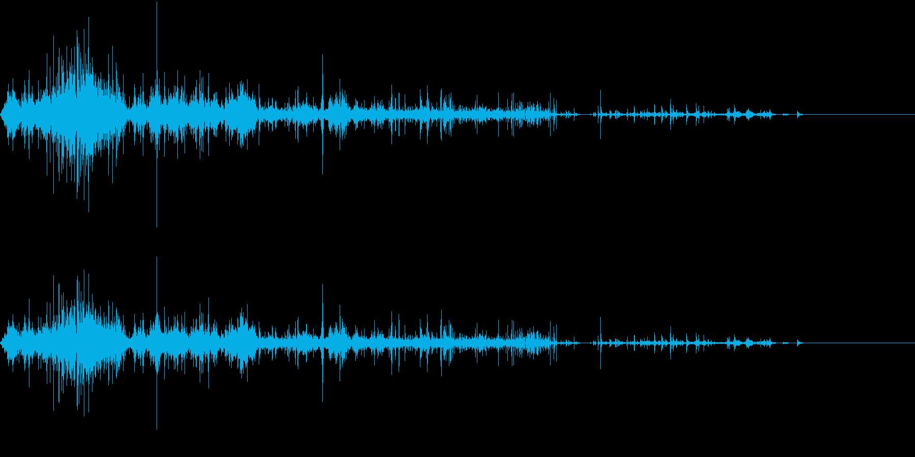 【生録音】ゴミの音 7 握りつぶすの再生済みの波形