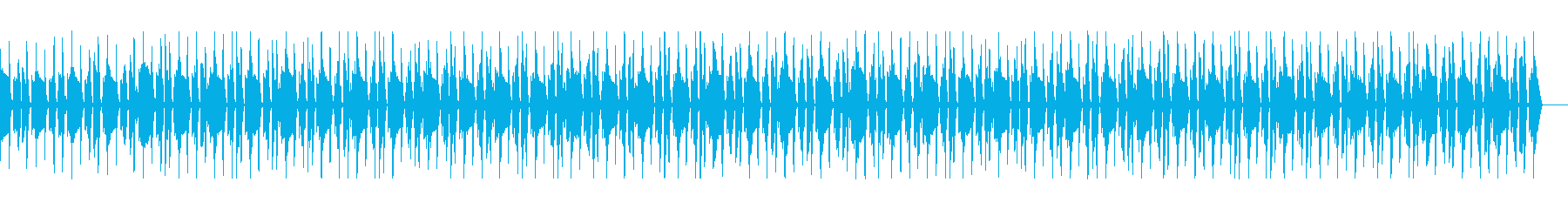 静かな夜のバスとドラムの再生済みの波形