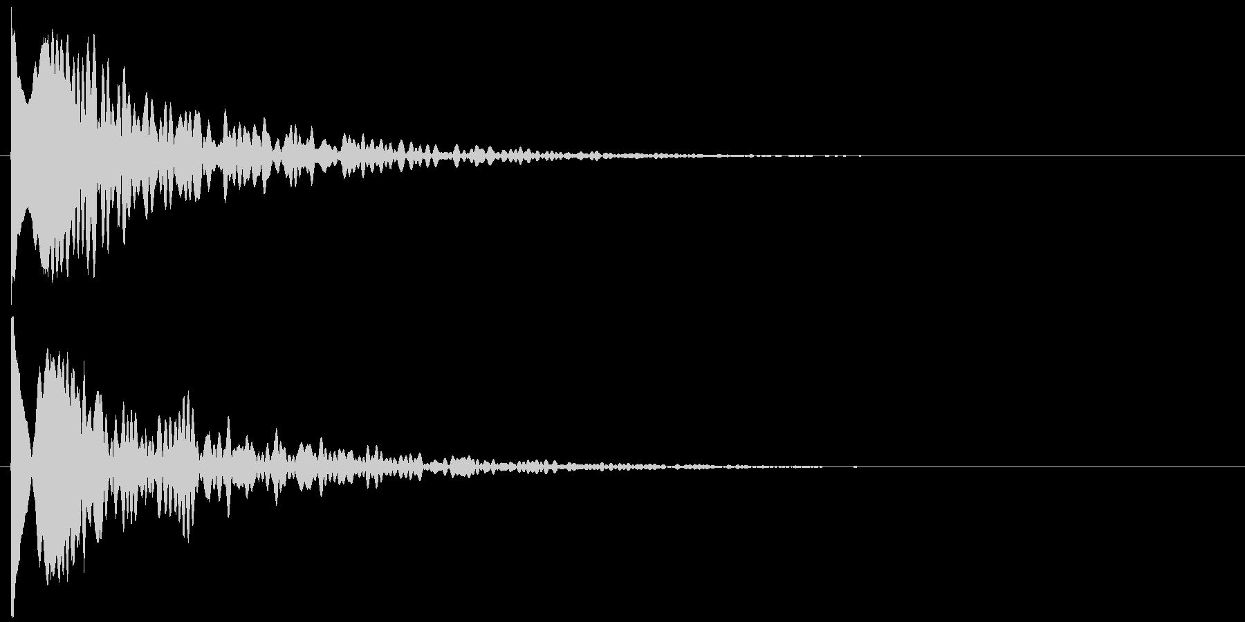 ッポヨ~ン~の未再生の波形