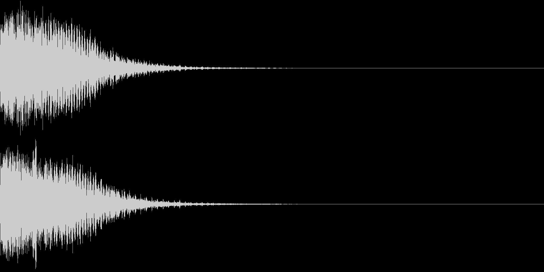 光る フラッシュ 衝撃 キーン H1の未再生の波形