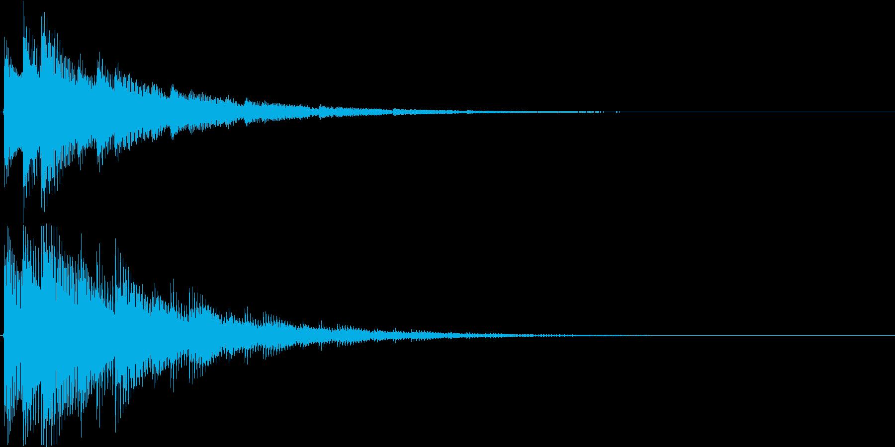 チャラリン(お知らせアラート音アコギ)の再生済みの波形