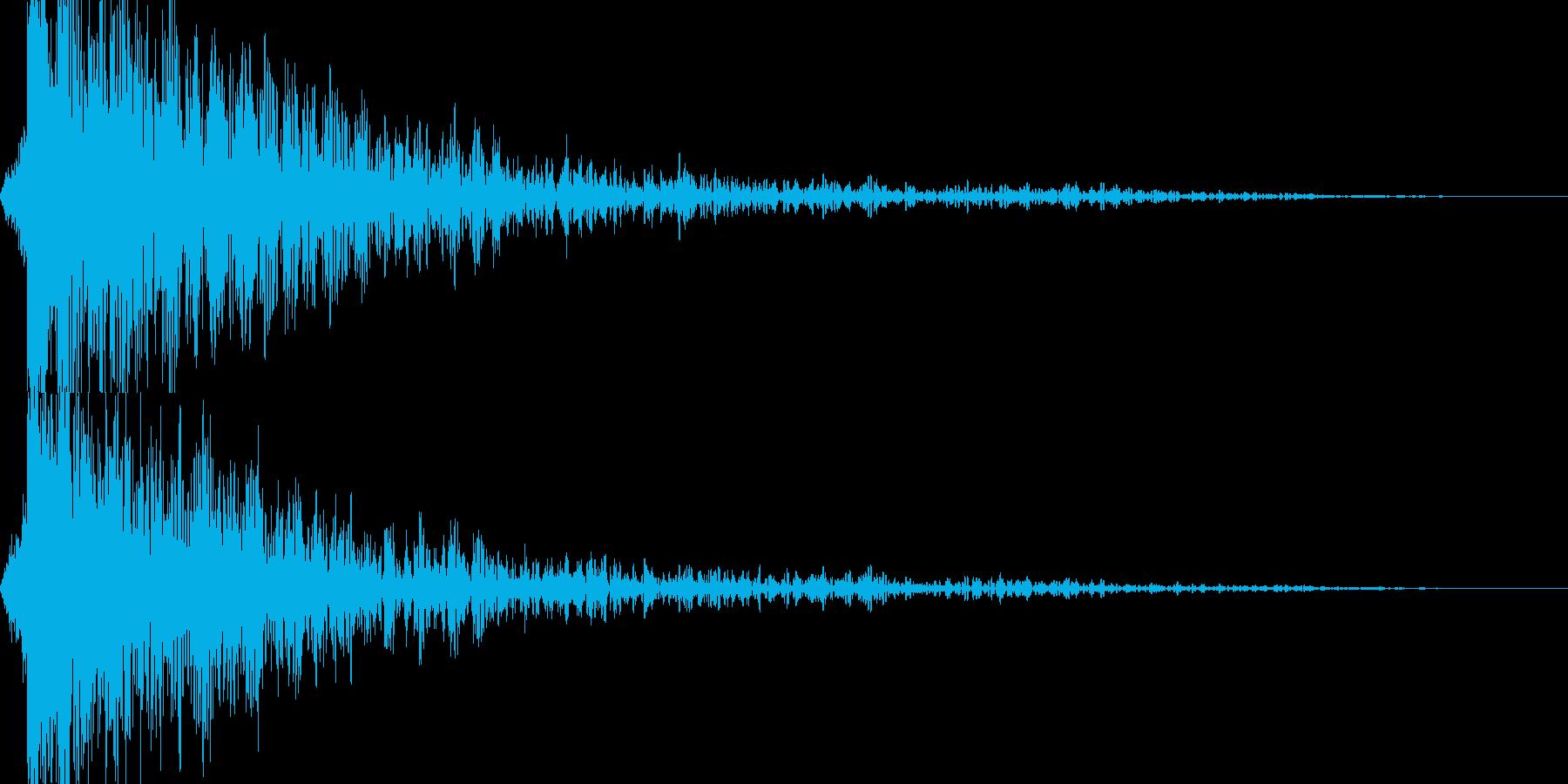 ヒュツ..ガーン!!!! 衝撃音の再生済みの波形