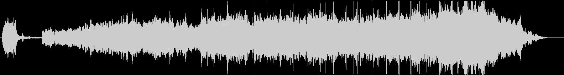 深々と流れるオーケストラサイレントナイトの未再生の波形