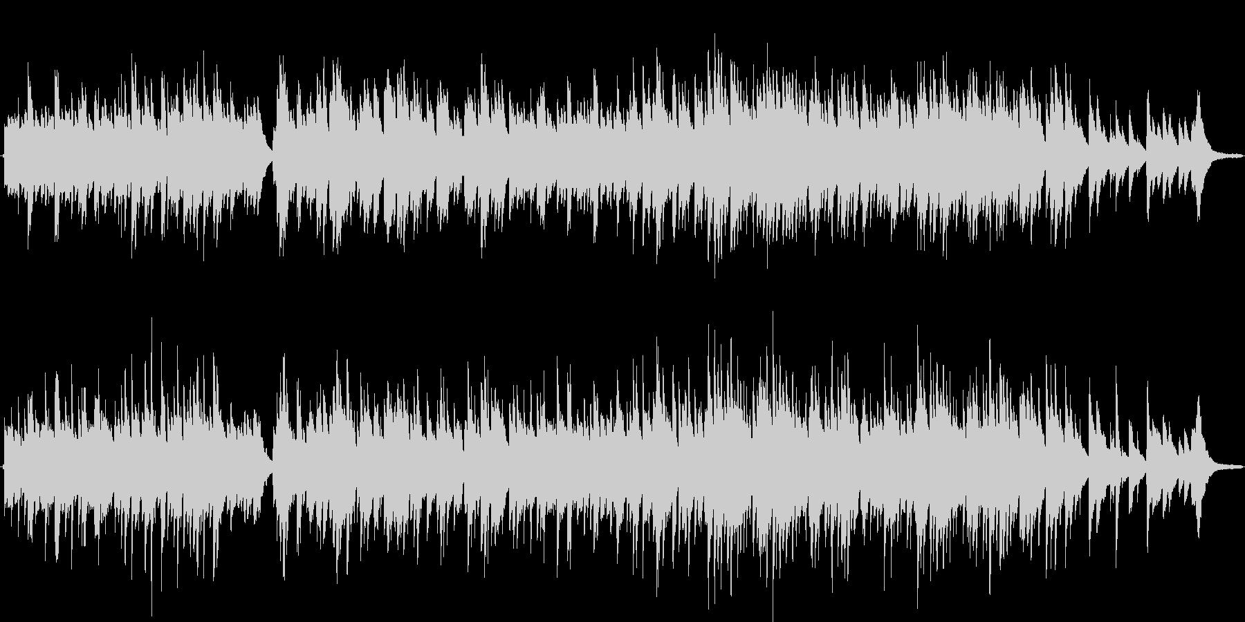 素朴で優しいメロディーのピアノソロの未再生の波形