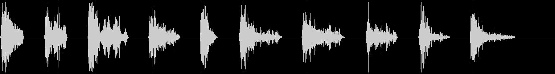 モンスターブレスロア1-10の未再生の波形
