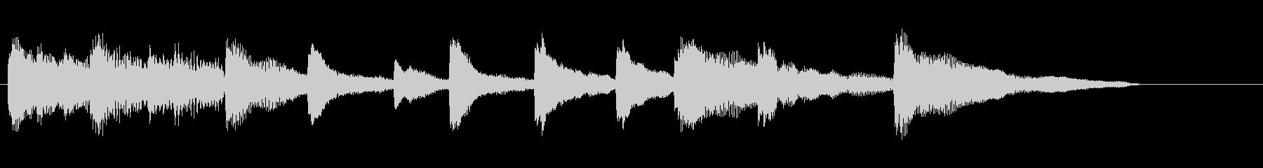 エレクトリックピアノのジングルの未再生の波形