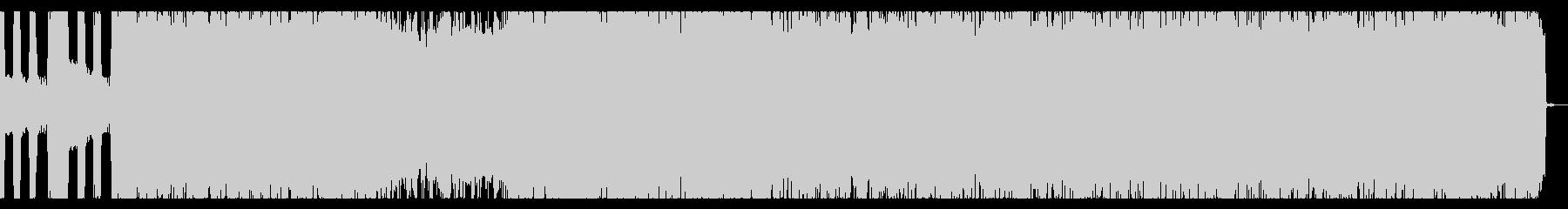 ツーバスが炸裂する激しいスラッシュメタルの未再生の波形