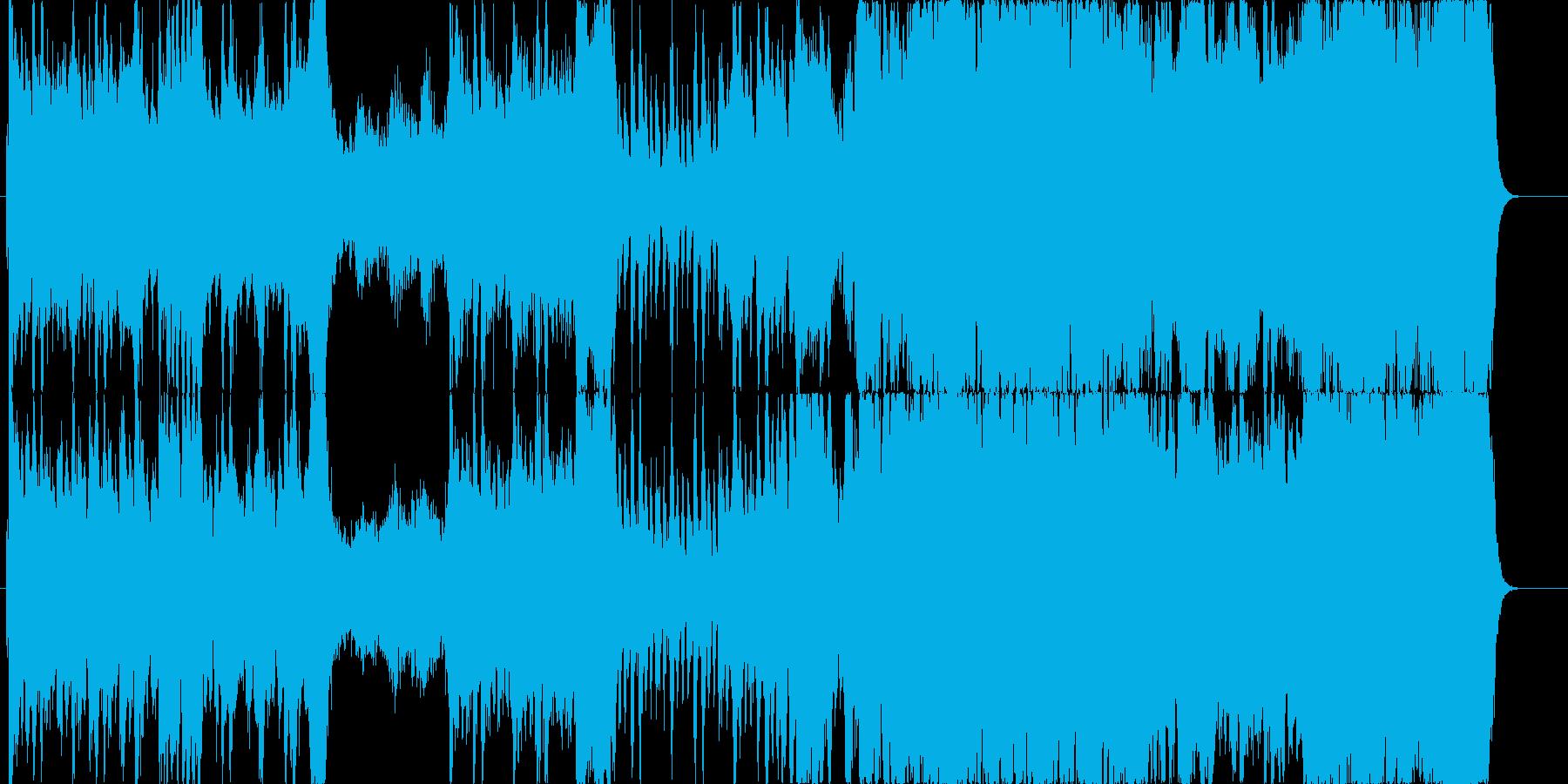 何らかの救出作戦をイメージした楽曲の再生済みの波形