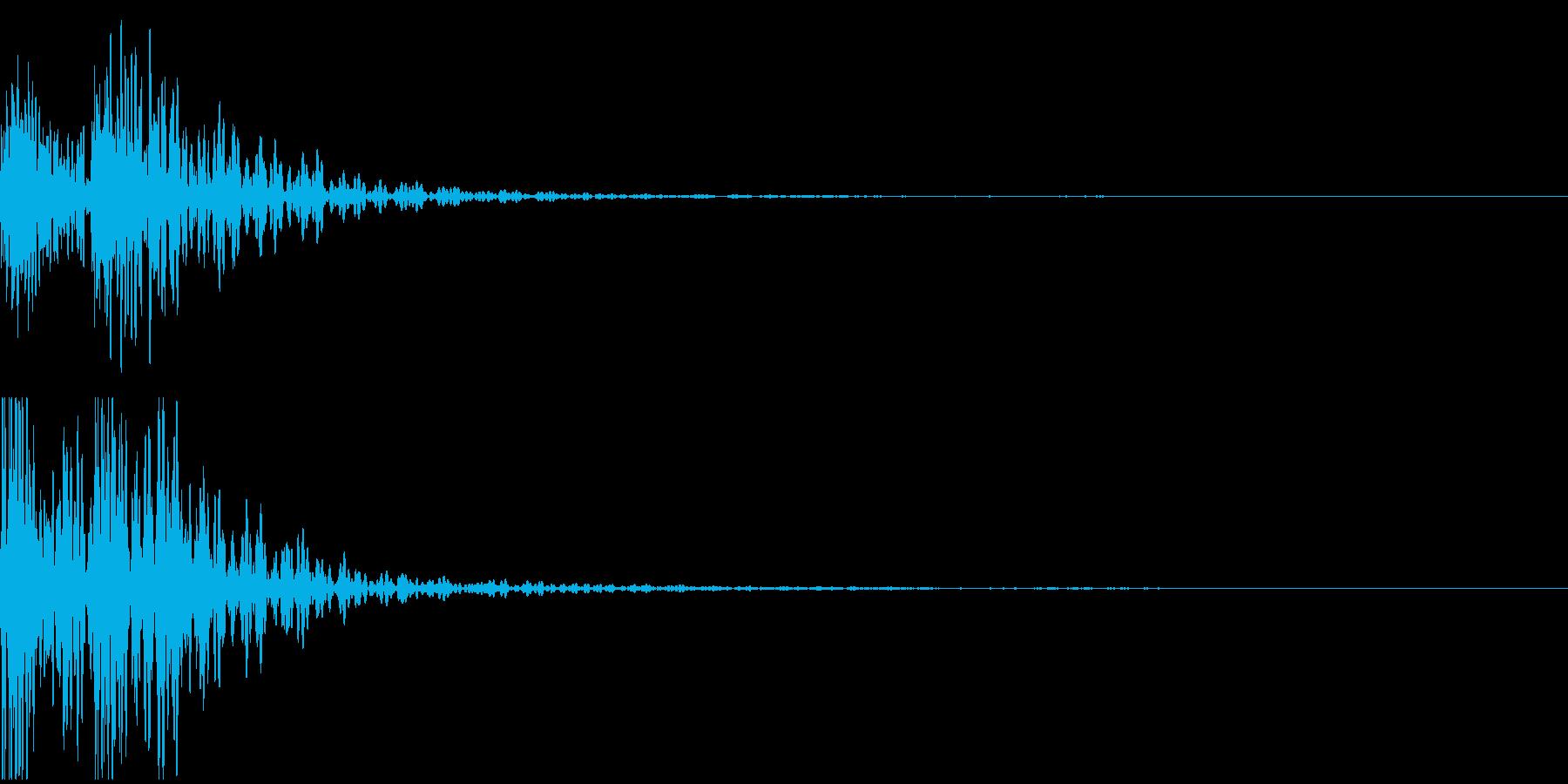 太鼓音1【ドドン】の再生済みの波形