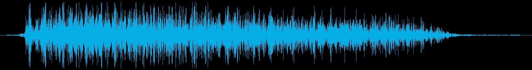 ガオーッ(モンスター、肉食系)の再生済みの波形
