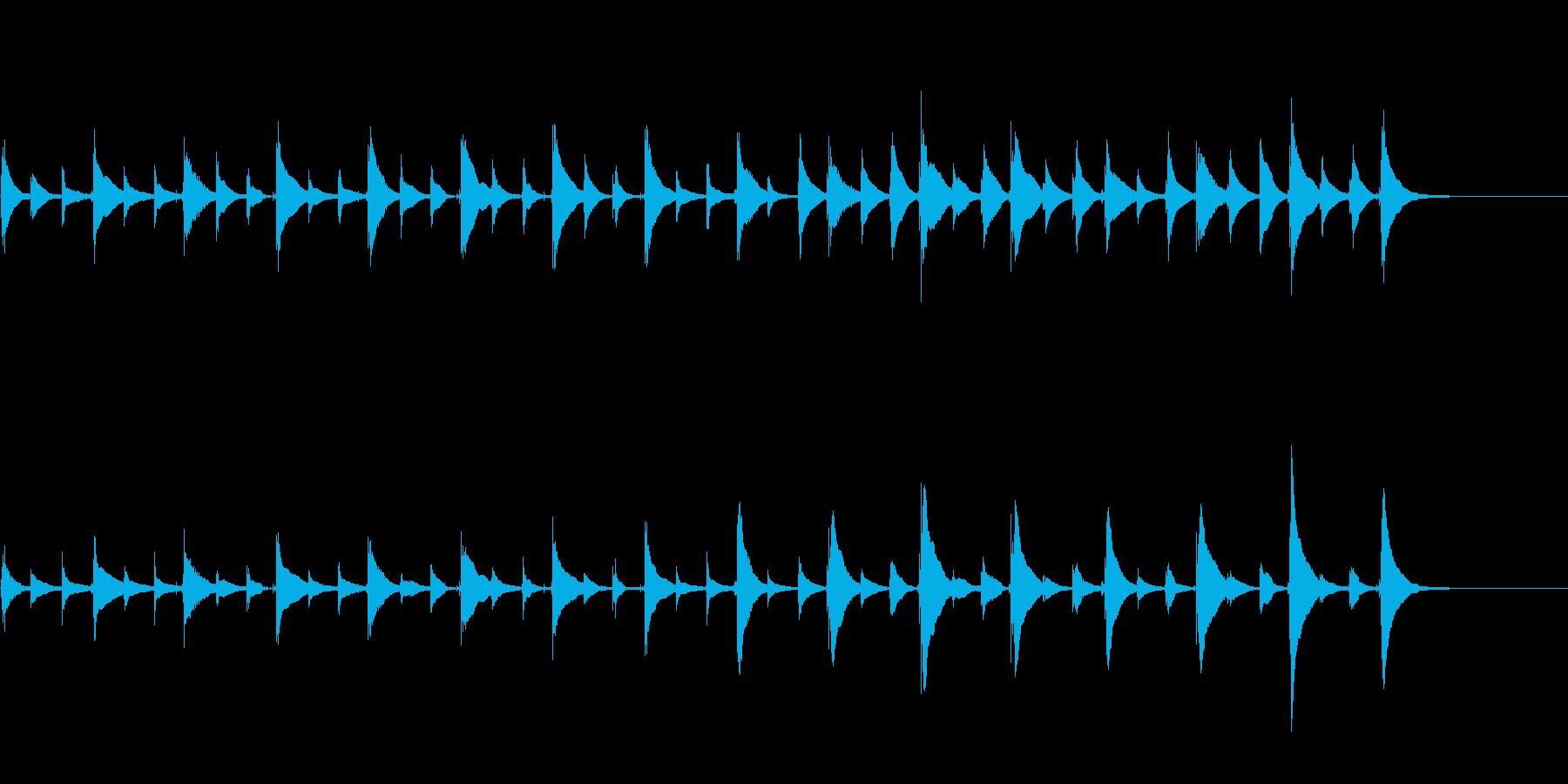 思考中、想像中、寝る前、不思議ウクレレ曲の再生済みの波形