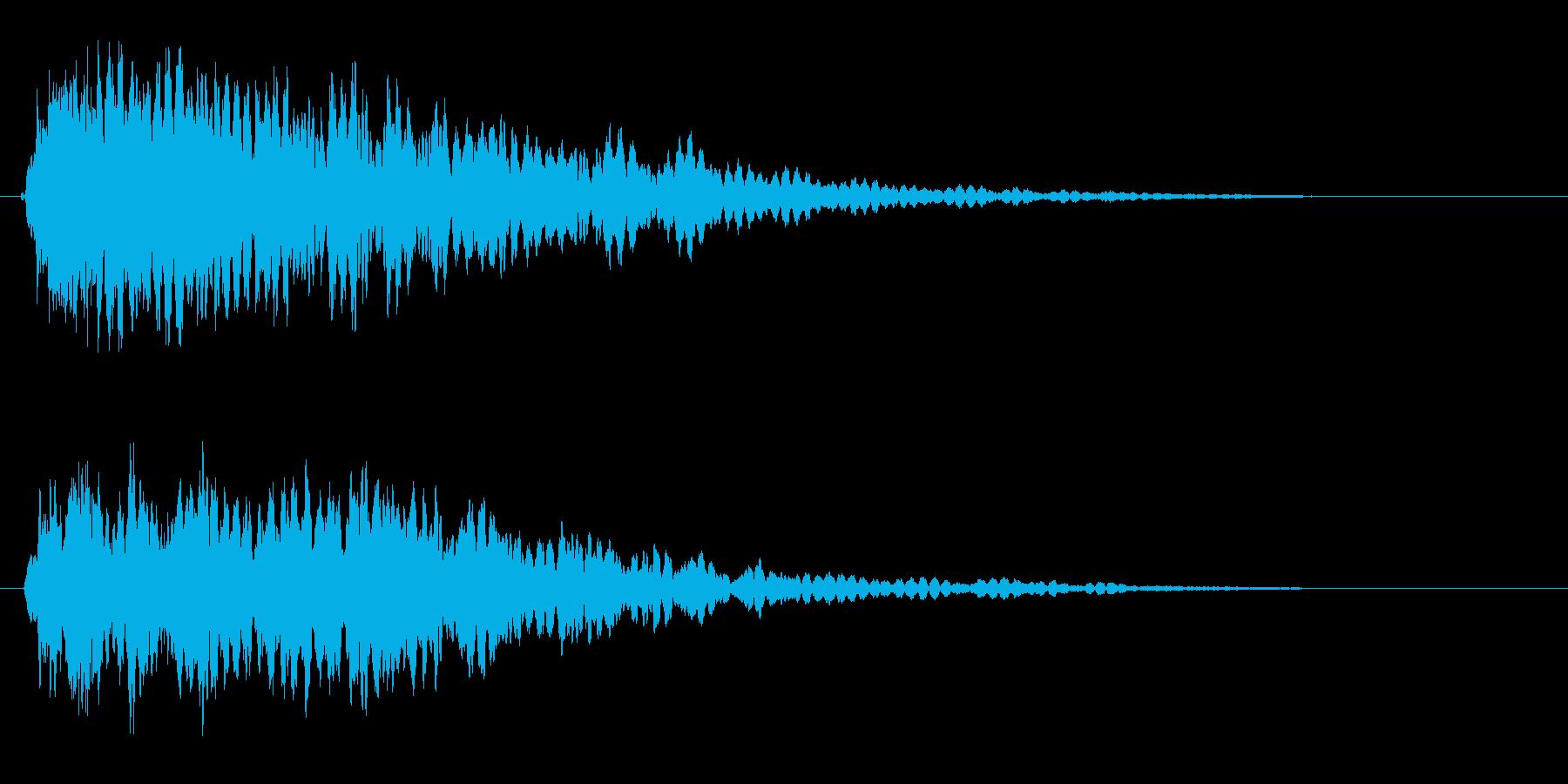 キーン(ガラスや氷が当たる音)の再生済みの波形