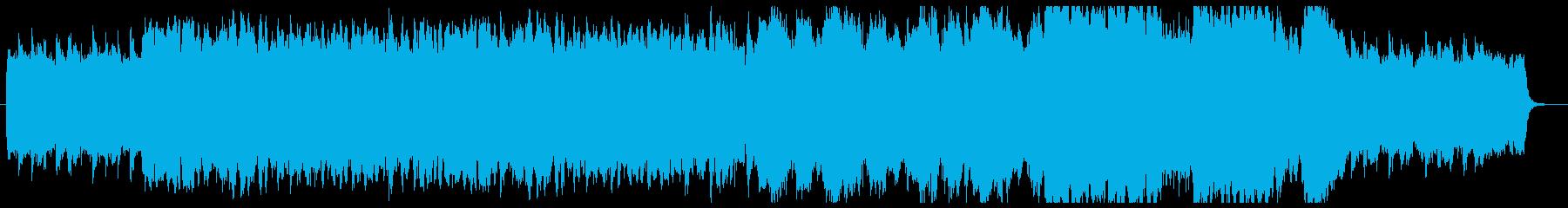 ほのぼのとしたケルト民謡風の再生済みの波形