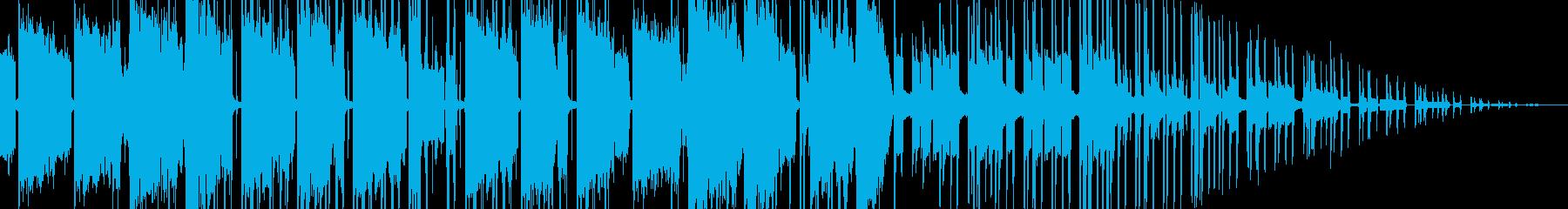 個性的なリズムの未来的なテクノサウンドの再生済みの波形